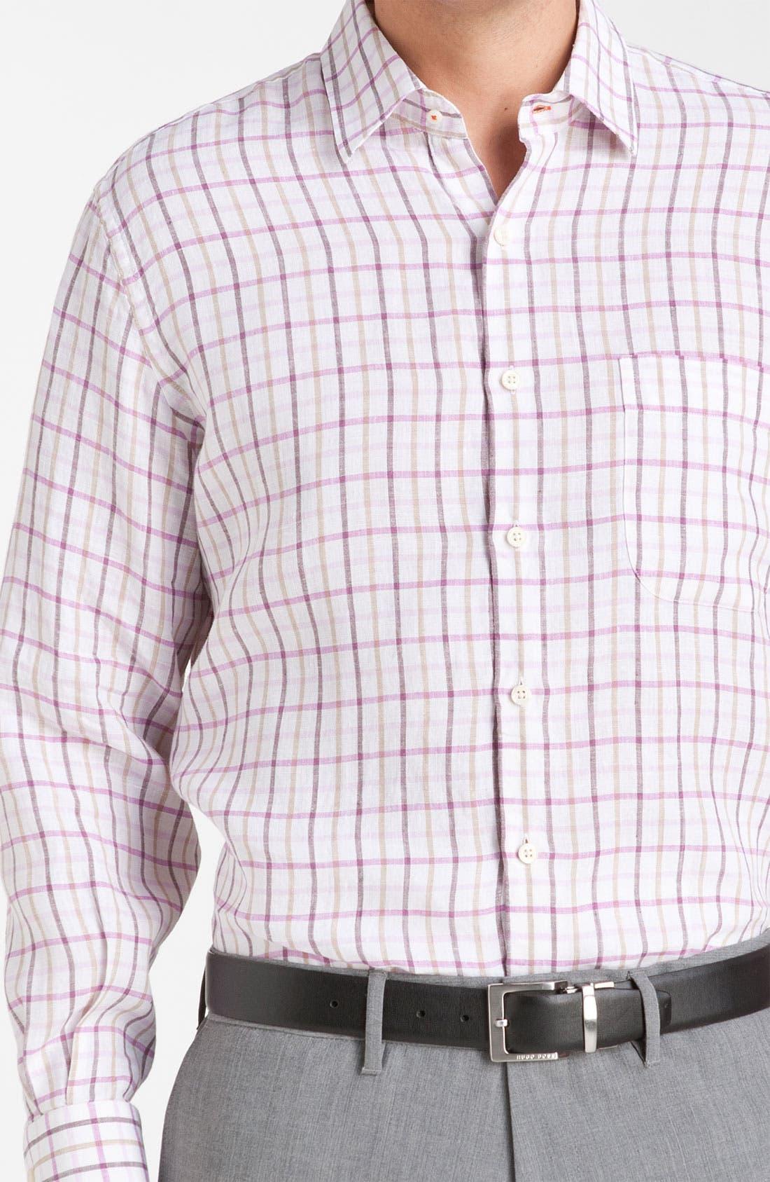 Alternate Image 3  - Peter Millar Regular Fit Linen Sport Shirt