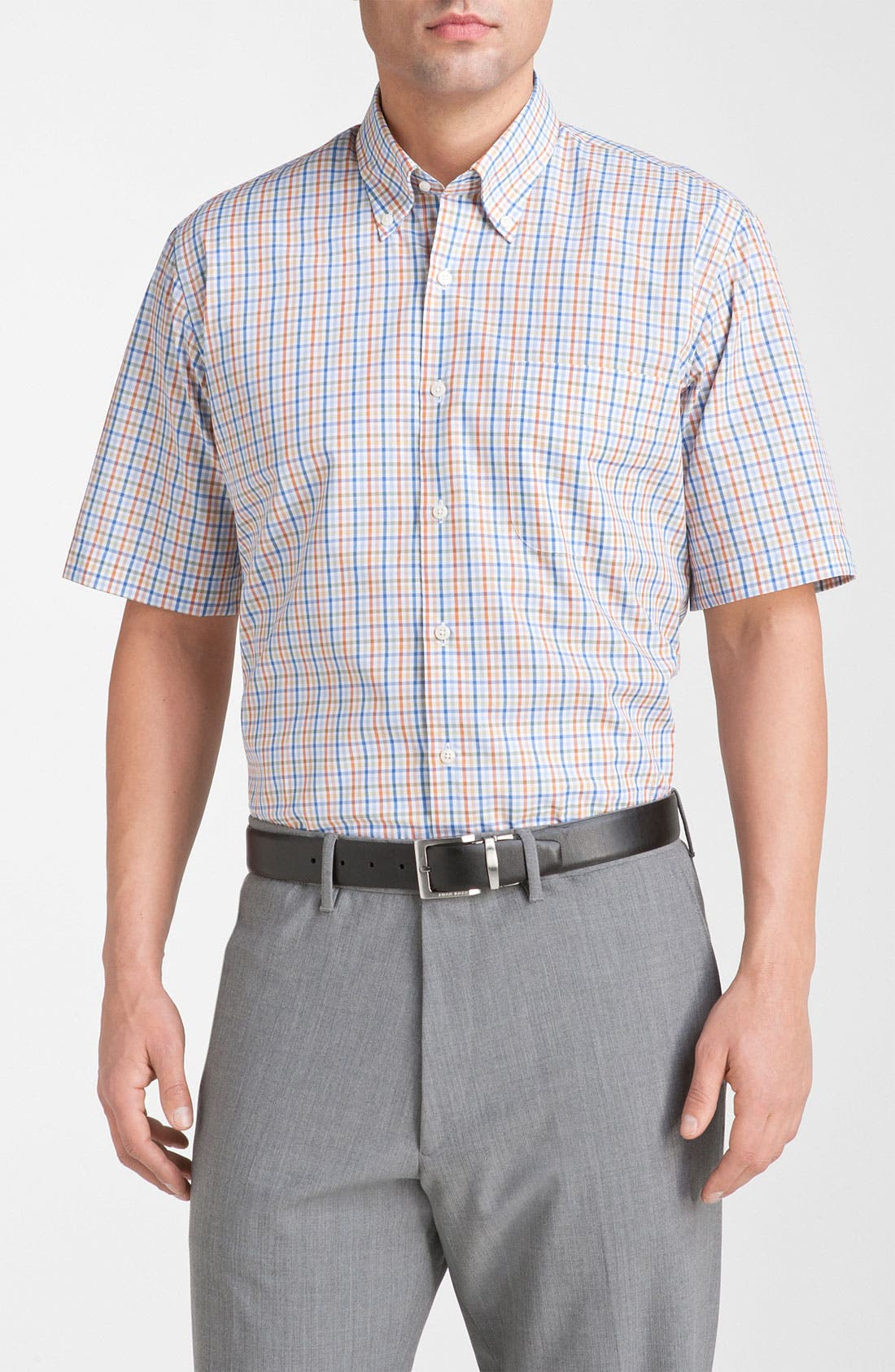 Alternate Image 1 Selected - Peter Millar Regular Fit Check Sport Shirt