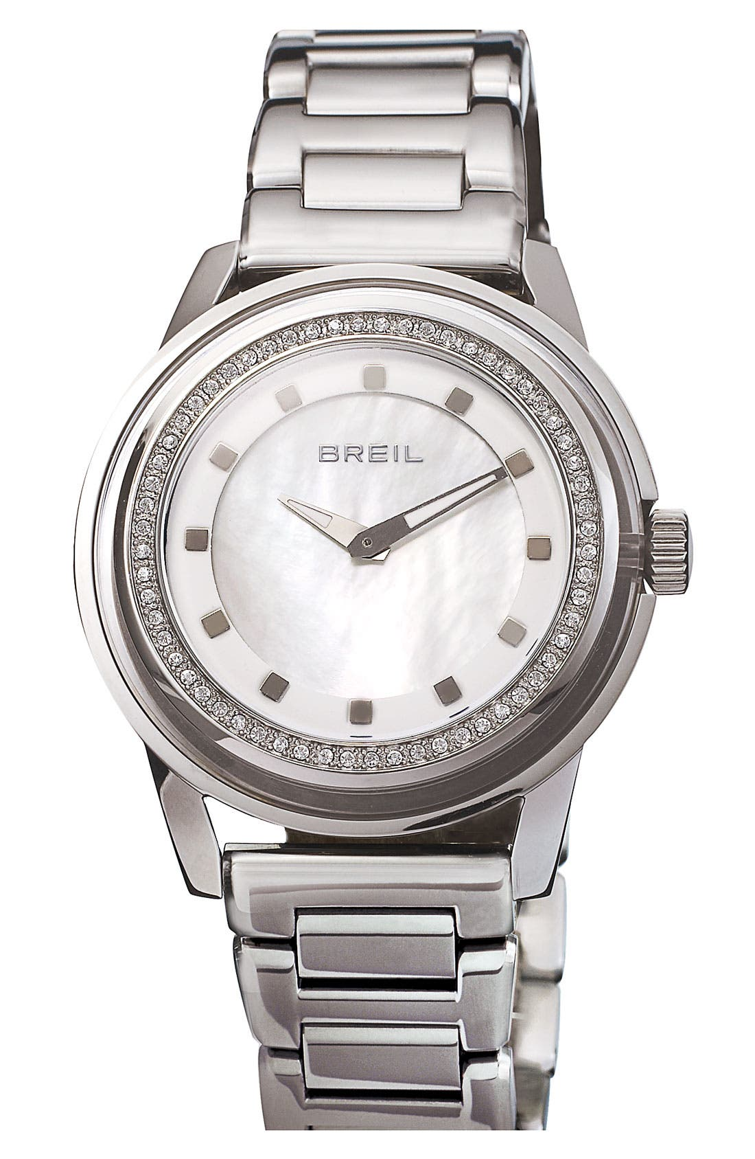 Alternate Image 1 Selected - Breil 'Orchestra' Crystal Bezel & Index Bracelet Watch, 40mm