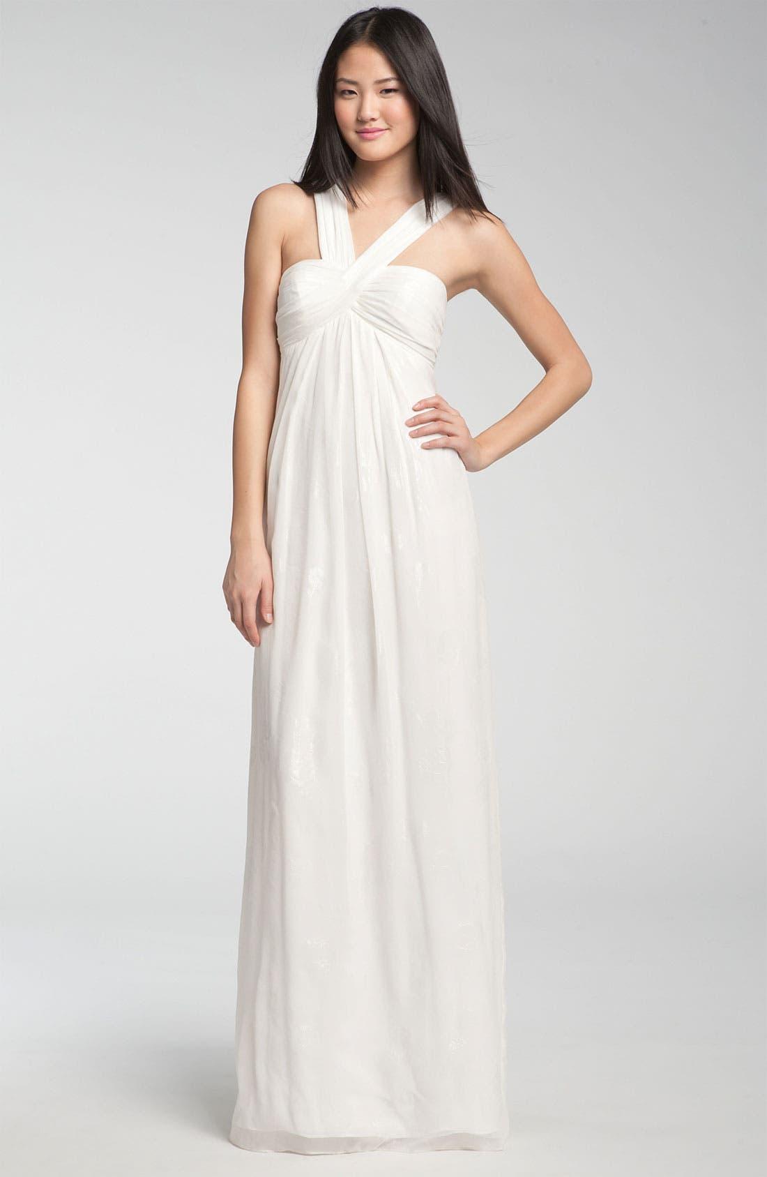 Alternate Image 1 Selected - Nicole Miller V-Strap Gown