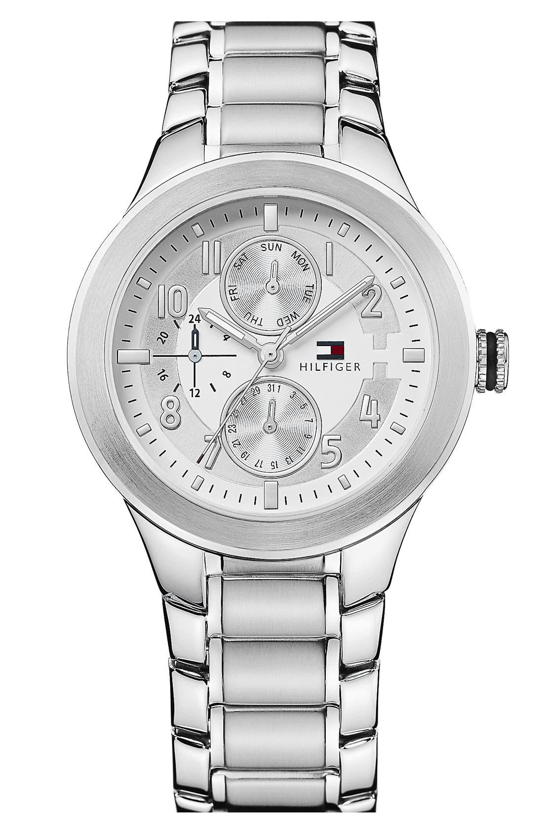 Alternate Image 1 Selected - Tommy Hilfiger 'Sport' Multifunction Bracelet Watch, 38mm