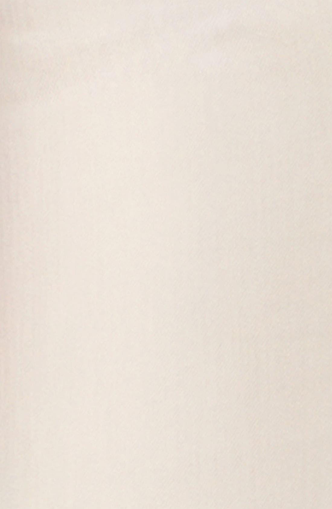 'Darkside' Bleached Skinny Jeans,                             Alternate thumbnail 5, color,                             Blanc