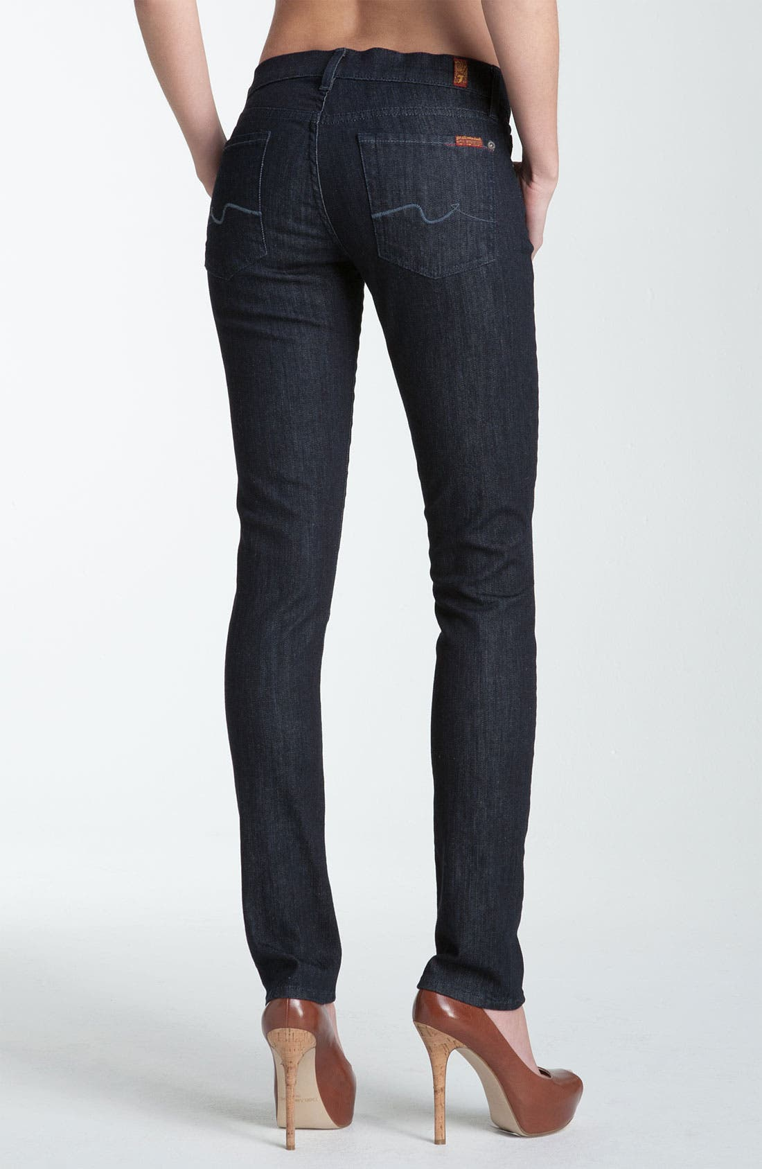 Alternate Image 2  - 7 For All Mankind® 'Roxanne' Skinny Stretch Jeans (New Rinse)