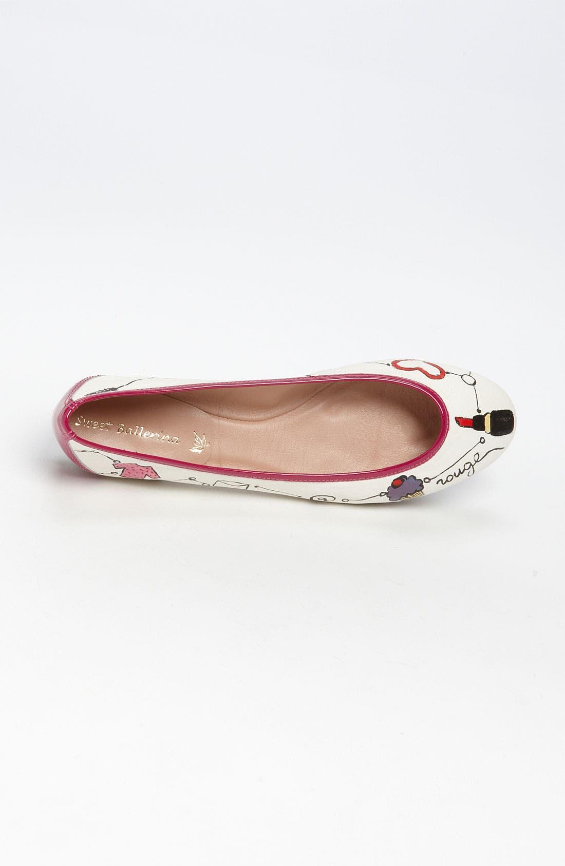 Alternate Image 3  - Sweet Ballerina 'Love Rouge' Ballet Flat