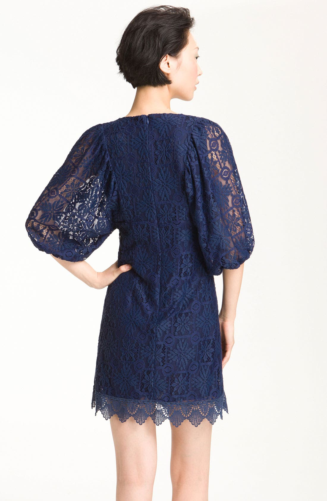 Alternate Image 3  - Laundry by Shelli Segal Lace Minidress