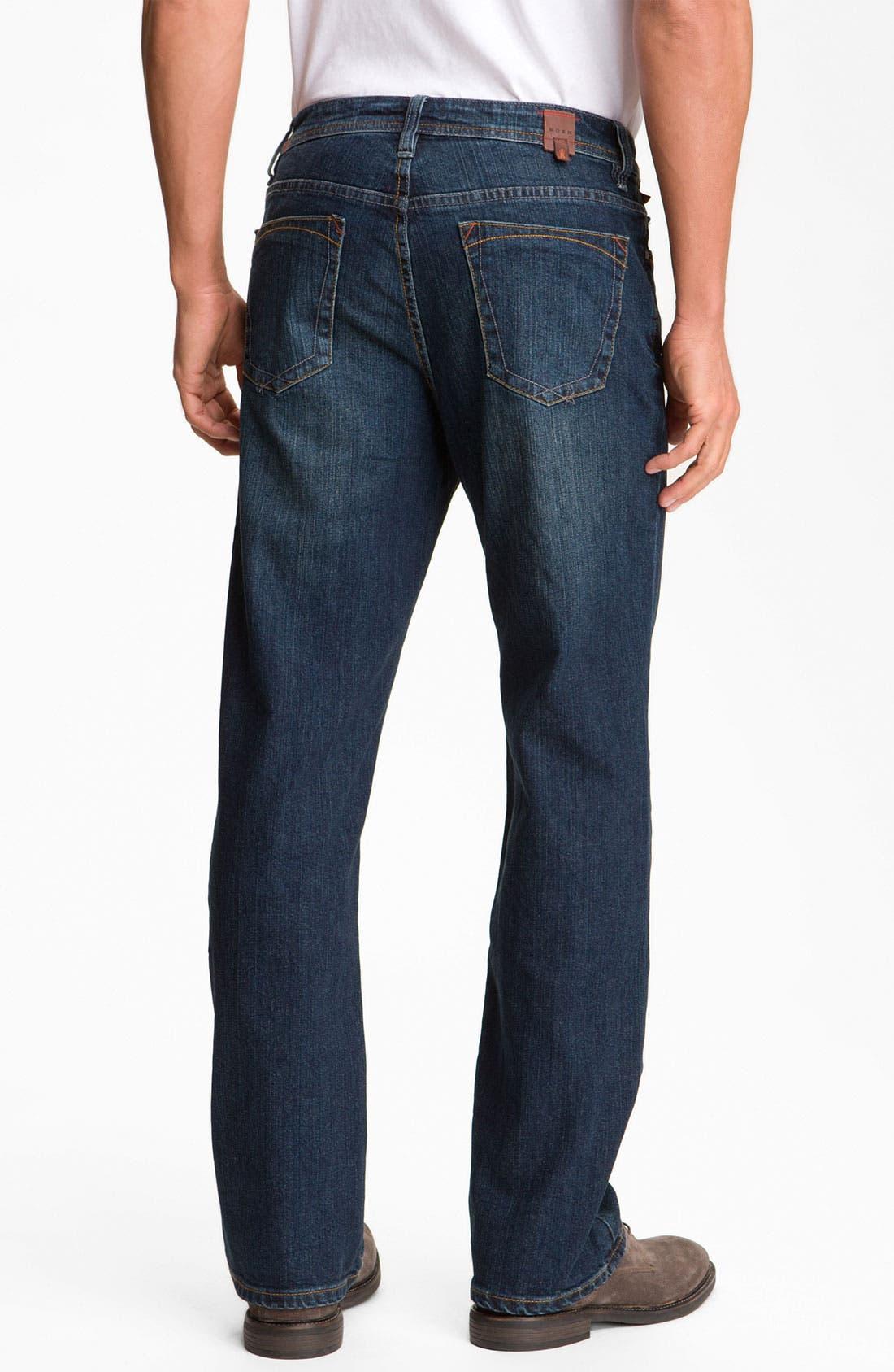 Alternate Image 2  - Worn Jeans 'Octane' Straight Leg Jeans (Clean Dark)