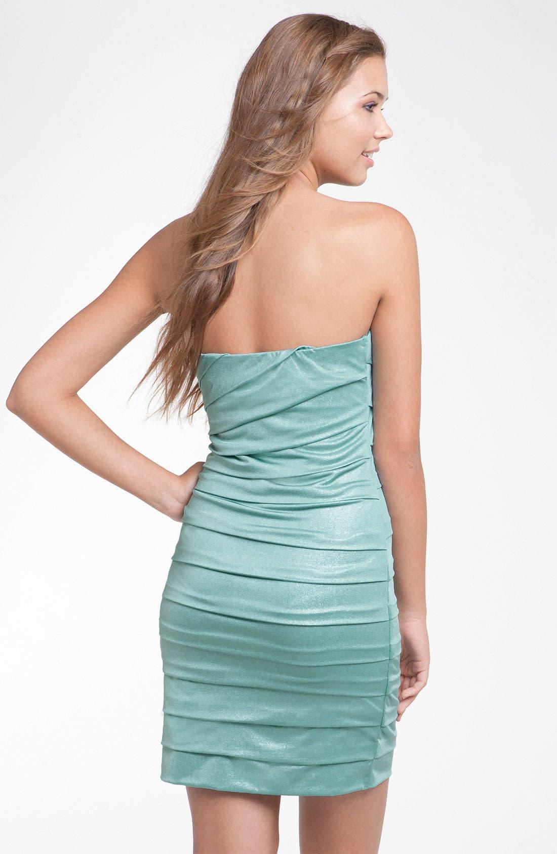 Alternate Image 2  - Speechless Pleated Strapless Dress (Juniors)