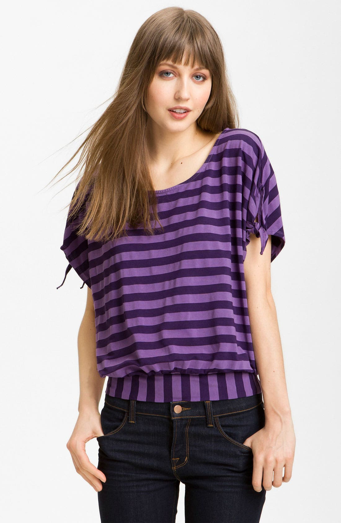 Alternate Image 1 Selected - Ella Moss 'Waldo' Stripe Blouson Top