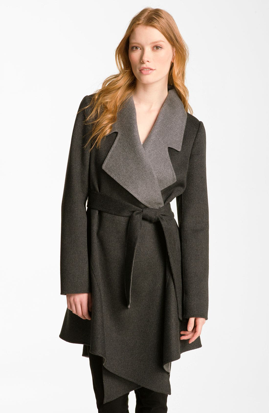 Main Image - Dawn Levy Wool & Cashmere Wrap Coat