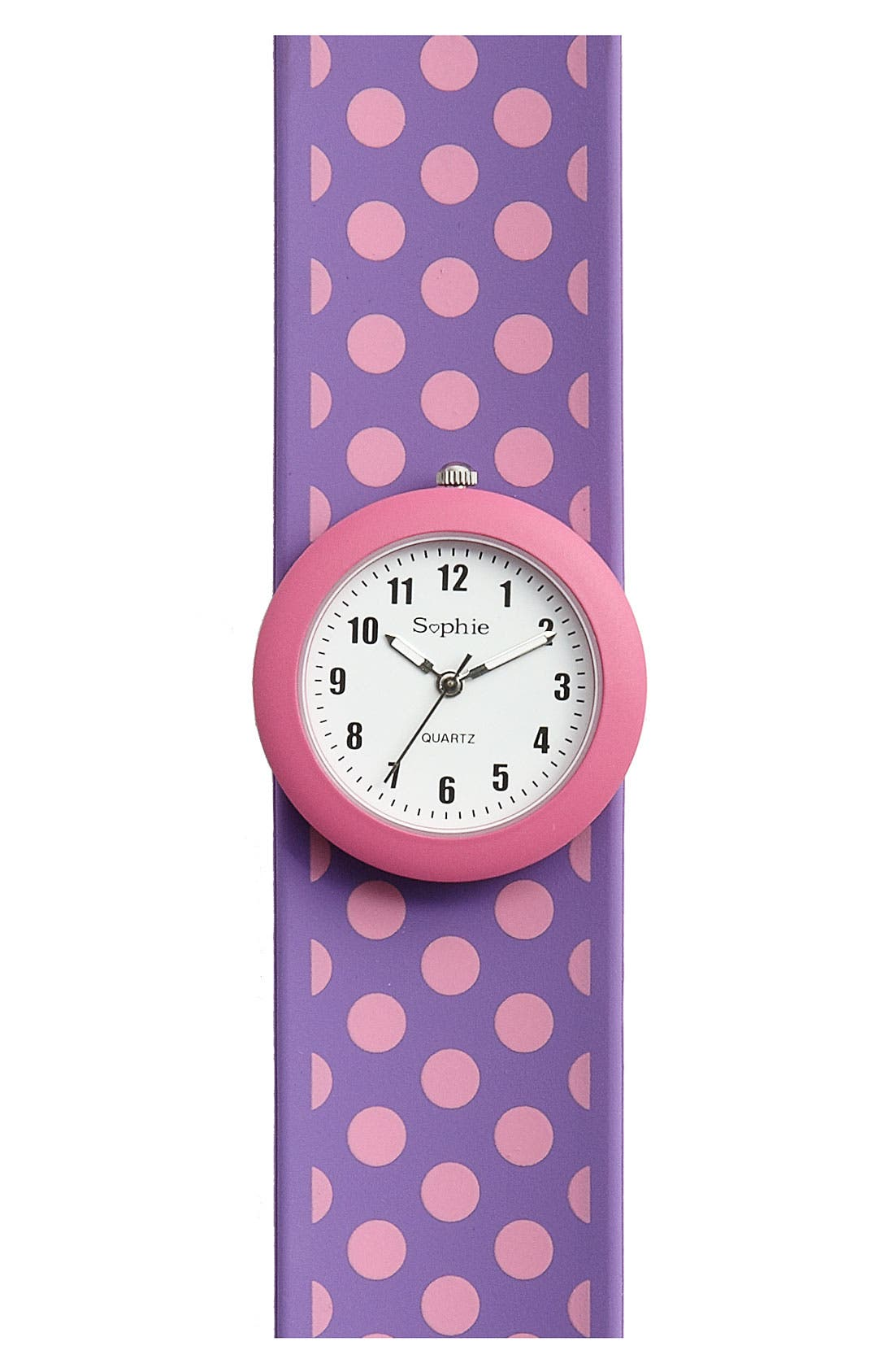 Alternate Image 1 Selected - Titanium Polka Dot Slap Watch (Girls)
