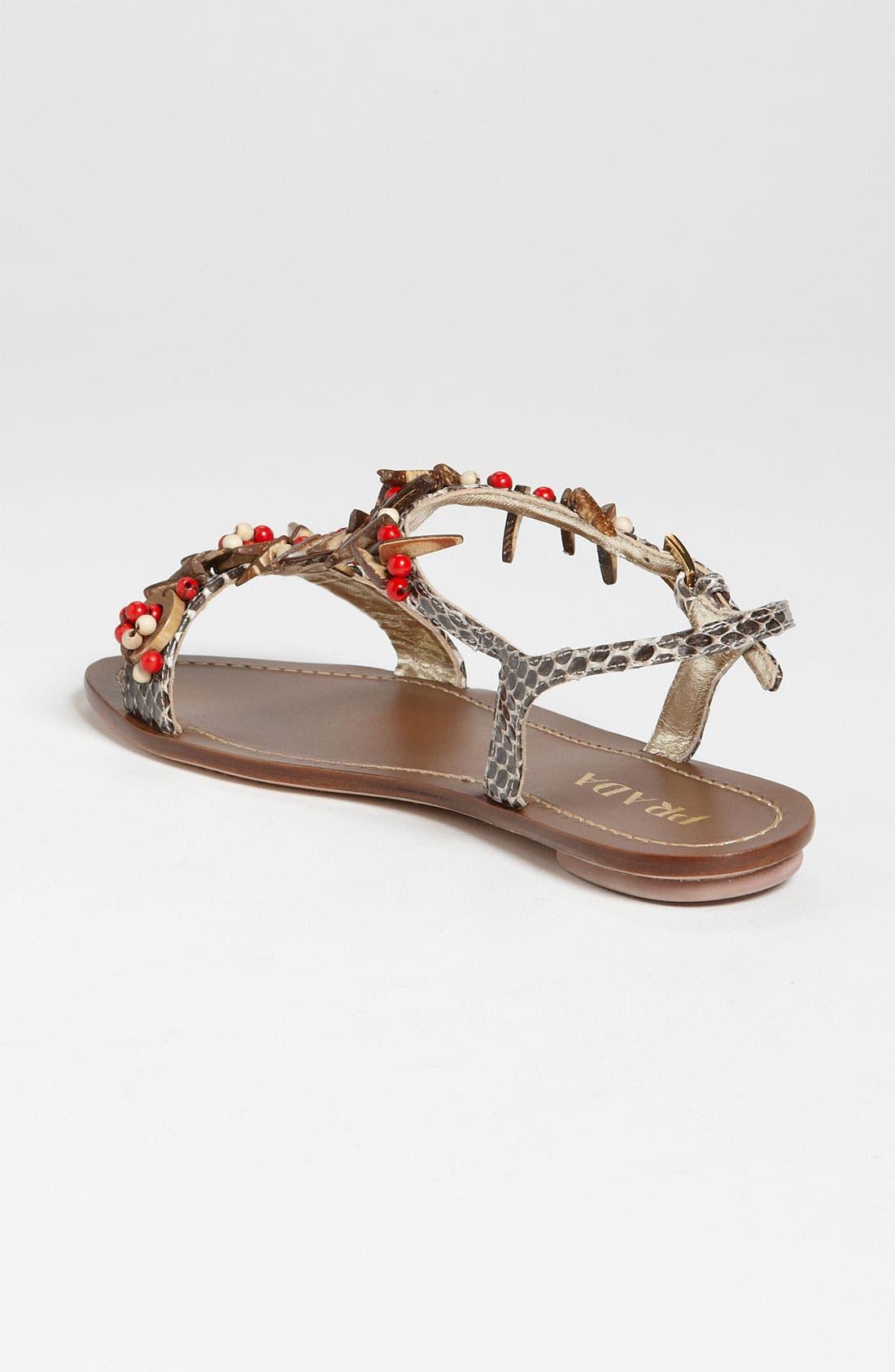 Alternate Image 2  - Prada T-Strap Flat Sandal