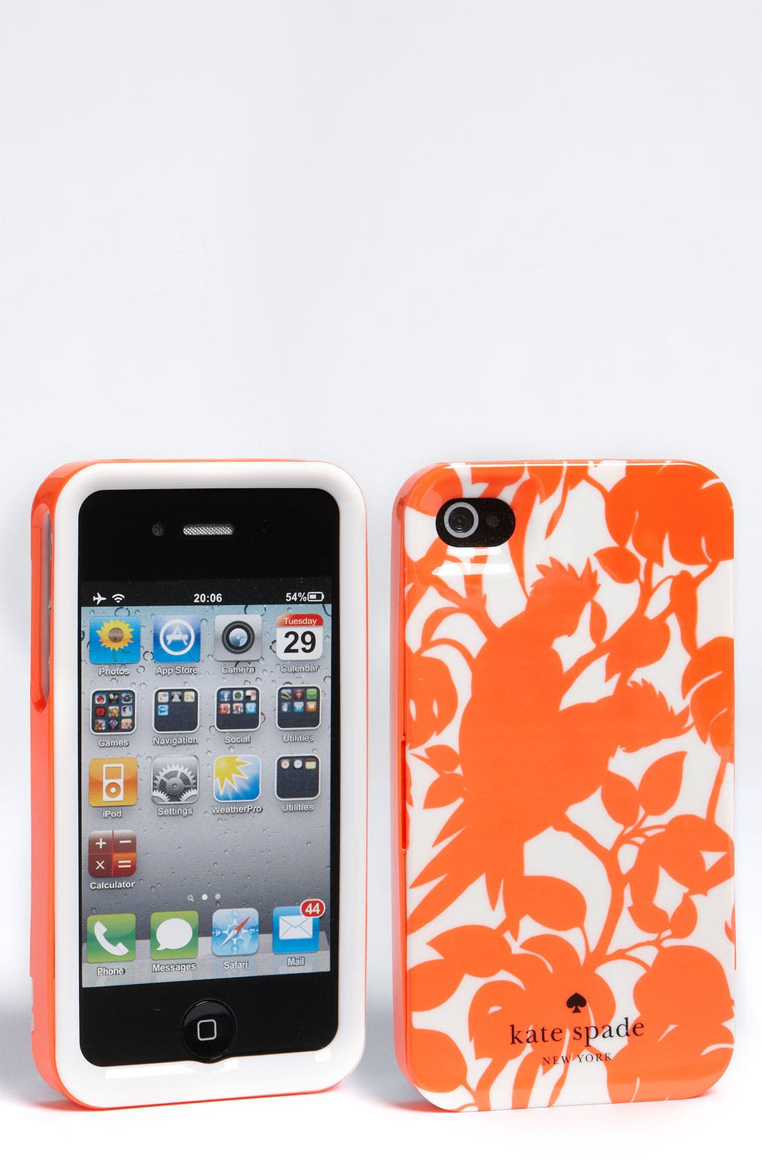 Alternate Image 1 Selected - kate spade new york 'cockatoos' iPhone 4 & 4S case