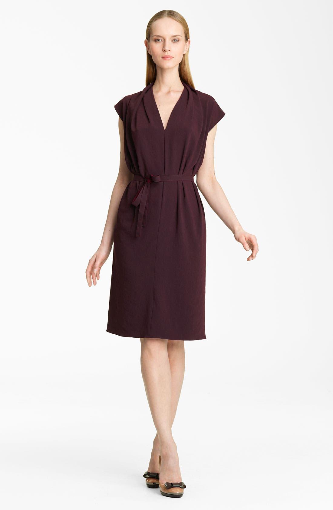 Alternate Image 1 Selected - Lanvin Belted Crepe Dress