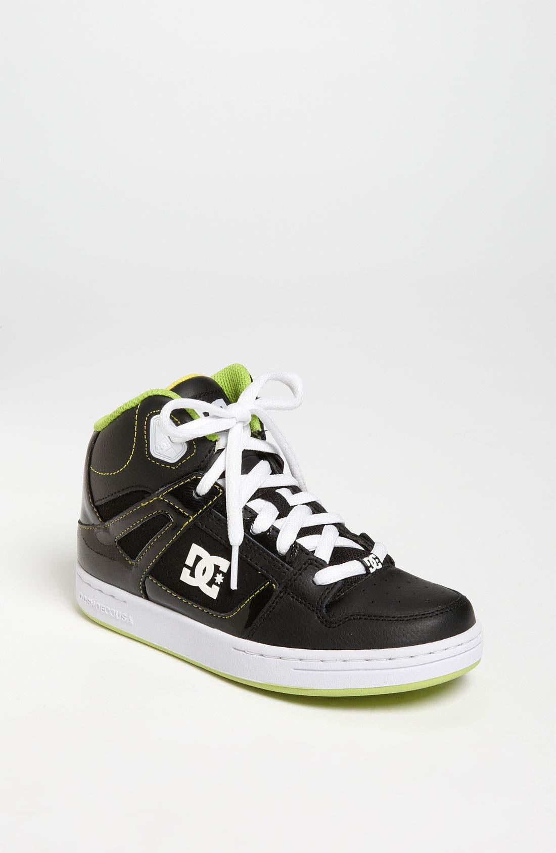 Alternate Image 1 Selected - DC Shoes 'Rebound' Skate Shoe (Toddler, Little Kid & Big Kid)