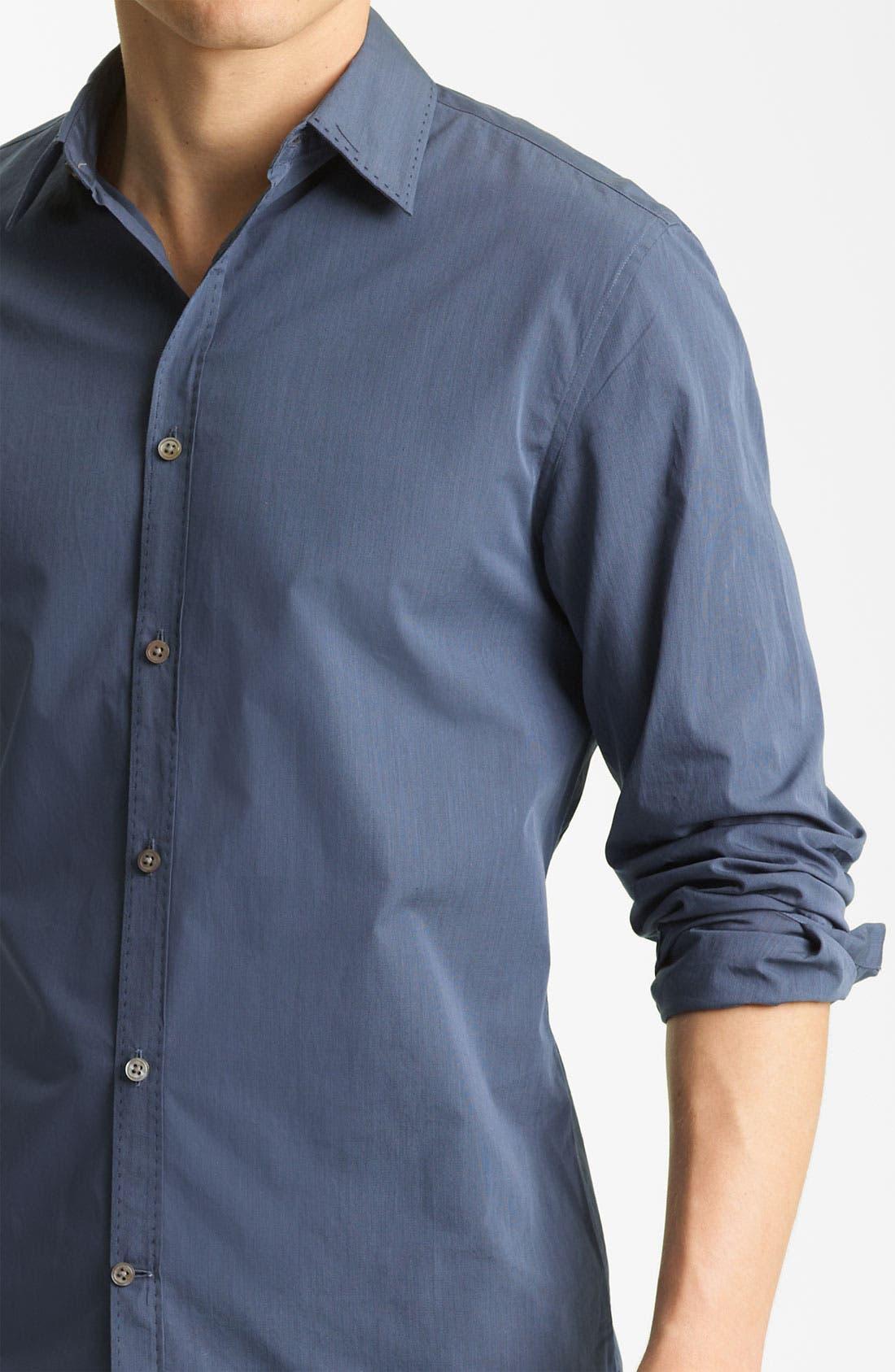 Alternate Image 3  - John Varvatos Collection Pickstitch Woven Shirt