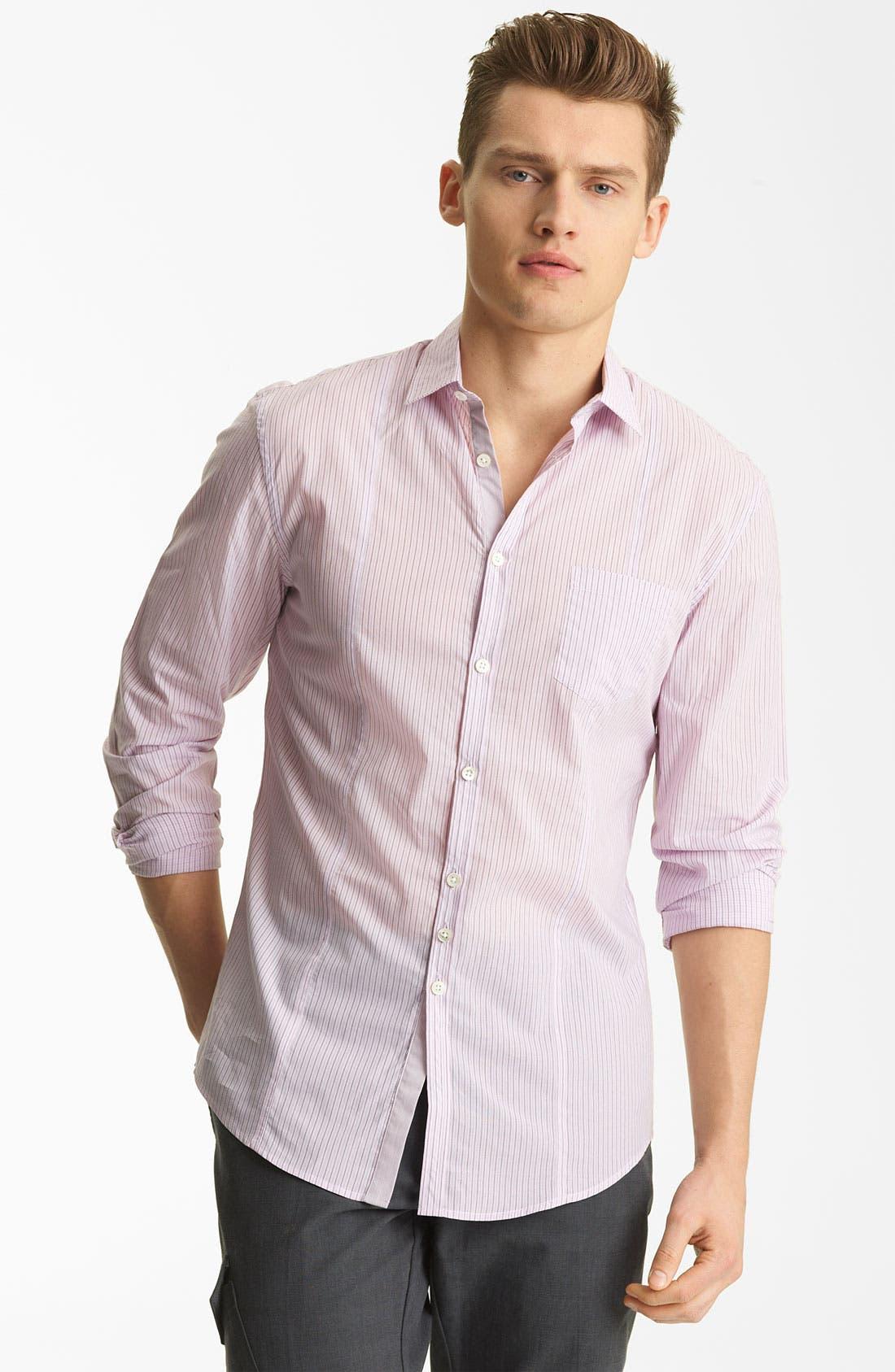 Main Image - John Varvatos Collection Stripe Woven Shirt