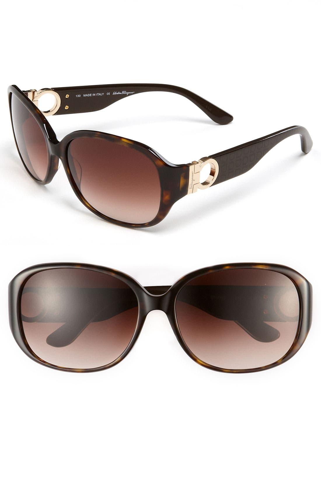 Alternate Image 1 Selected - Salvatore Ferragamo 59mm Classic Sunglasses