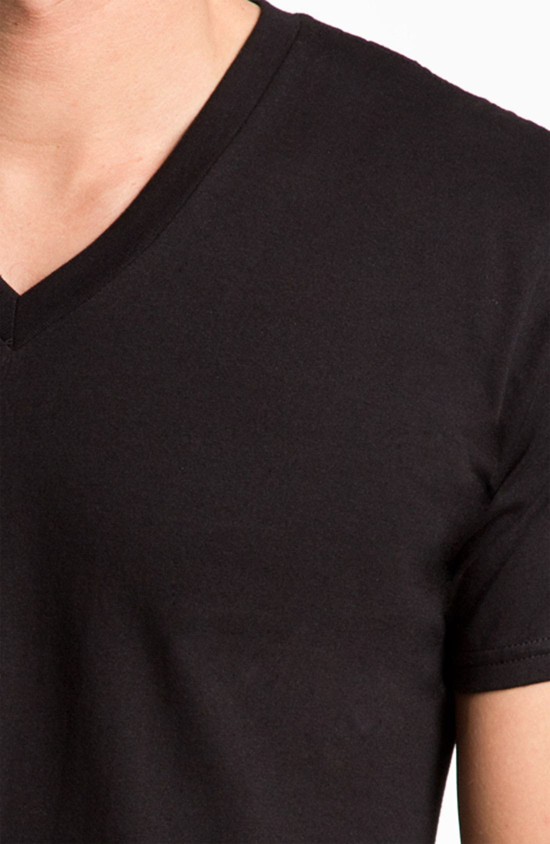 Alternate Image 2  - Calvin Klein Basic V-Neck T-Shirt (2-Pack) (Tall)