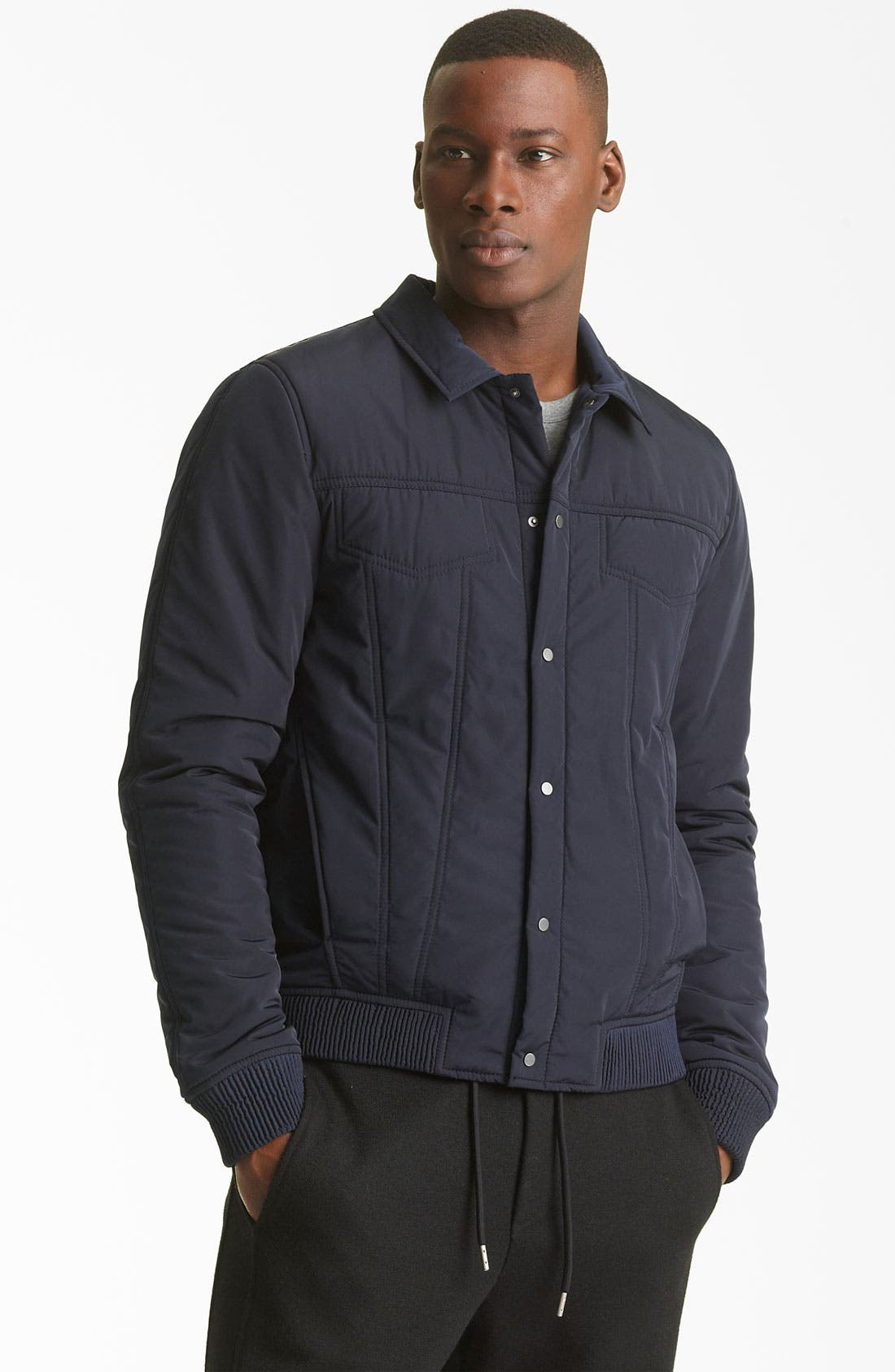 Alternate Image 1 Selected - T by Alexander Wang Quilted Jacket