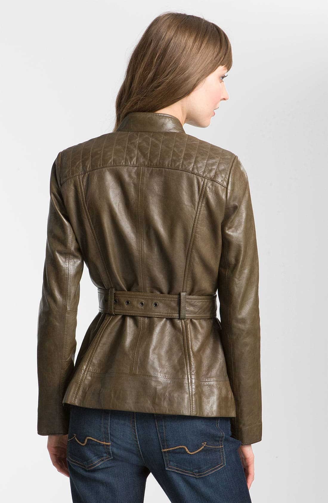 Alternate Image 2  - Marc New York by Andrew Marc Belted Leather Jacket (Online Exclusive)