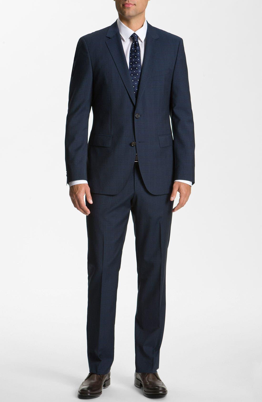 Alternate Image 2  - BOSS Black 'James/Sharp' Trim Fit Wool Suit