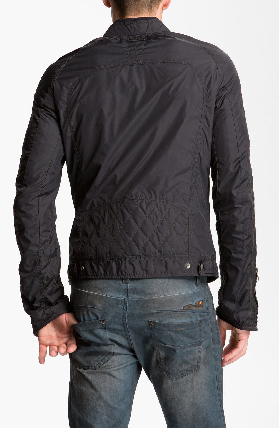 Alternate Image 2  - DIESEL® 'Jurlo' Trim Fit Nylon Moto Jacket