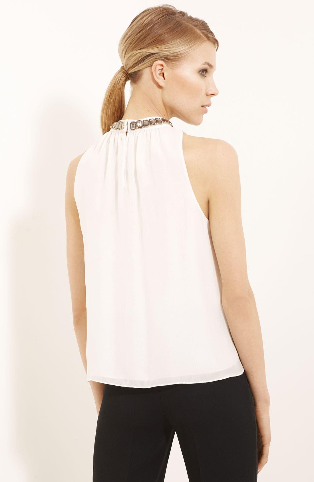 Alternate Image 2  - Moschino Cheap & Chic Jewel Neck Silk Chiffon Blouse