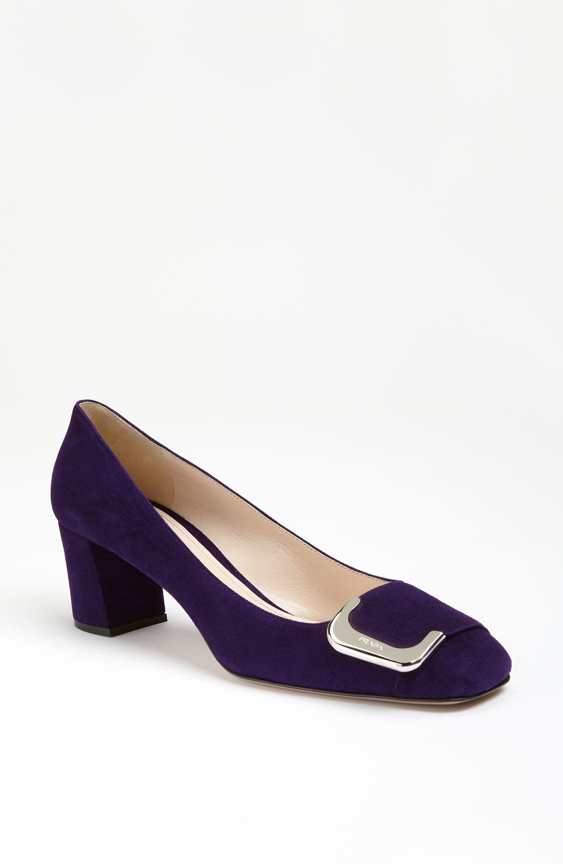 Alternate Image 1 Selected - Prada Buckle Square Heel Pump