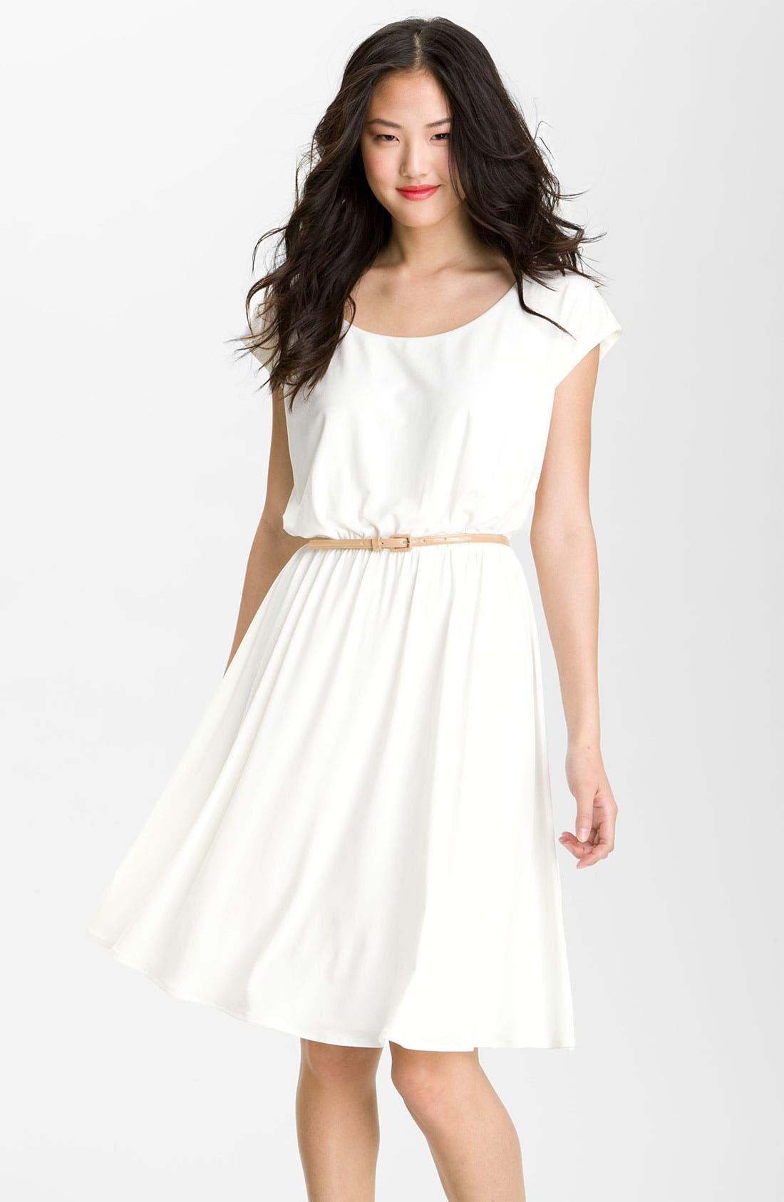 Main Image - Maggy London Belted Matte Jersey Dress