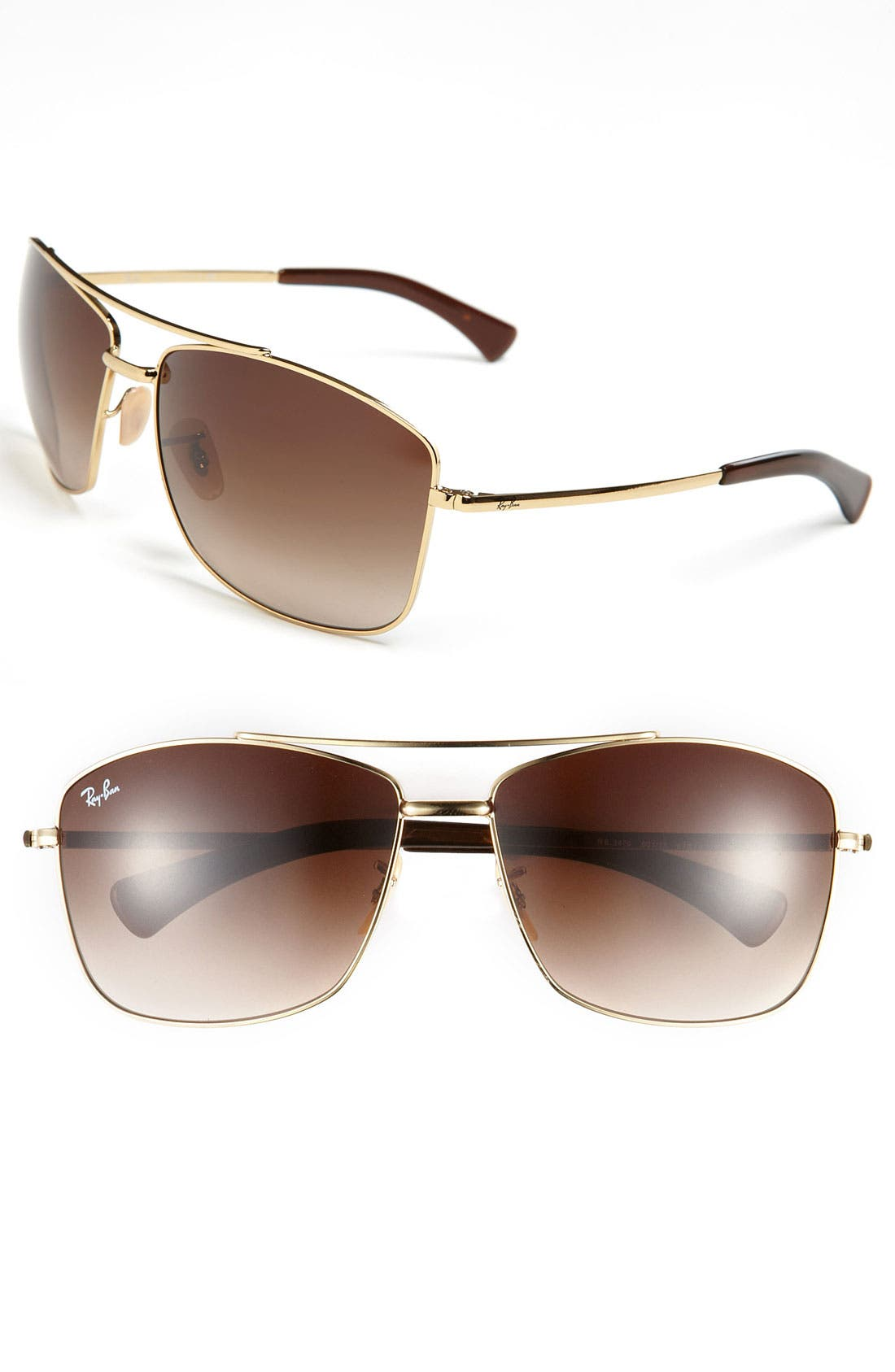 Alternate Image 1 Selected - Ray-Ban 63mm Aviator Sunglasses