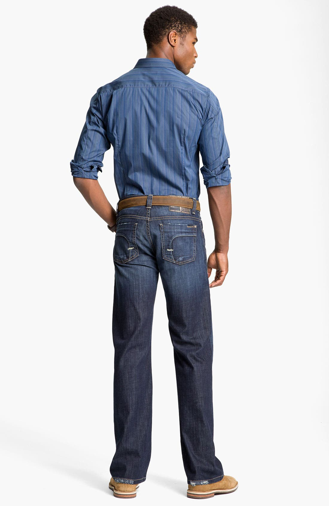 Alternate Image 6  - Fidelity Denim 'Camino' Relaxed Leg Jeans (Generation Blue)