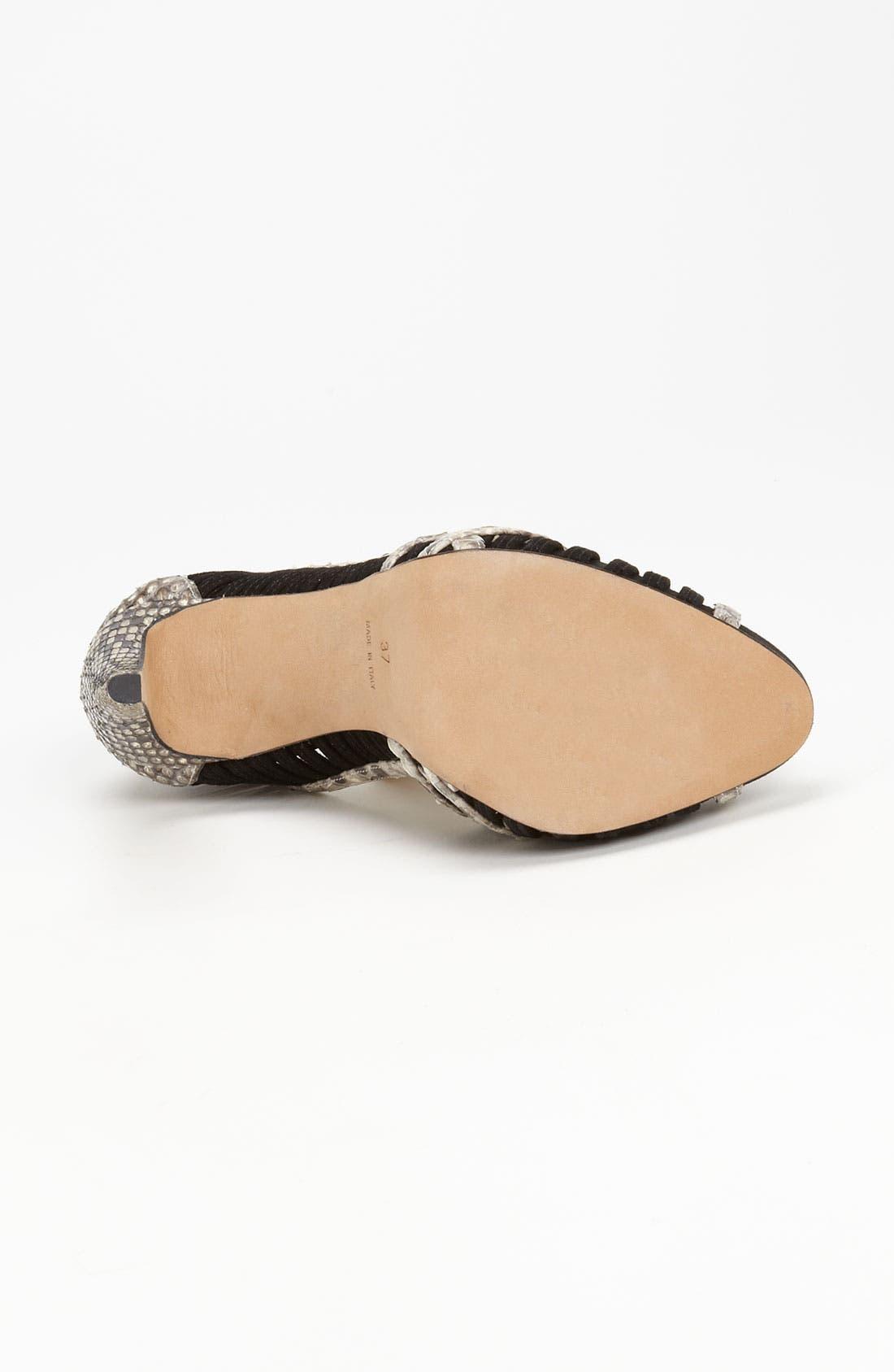 Alternate Image 4  - Alexandre Birman Genuine Python Sandal