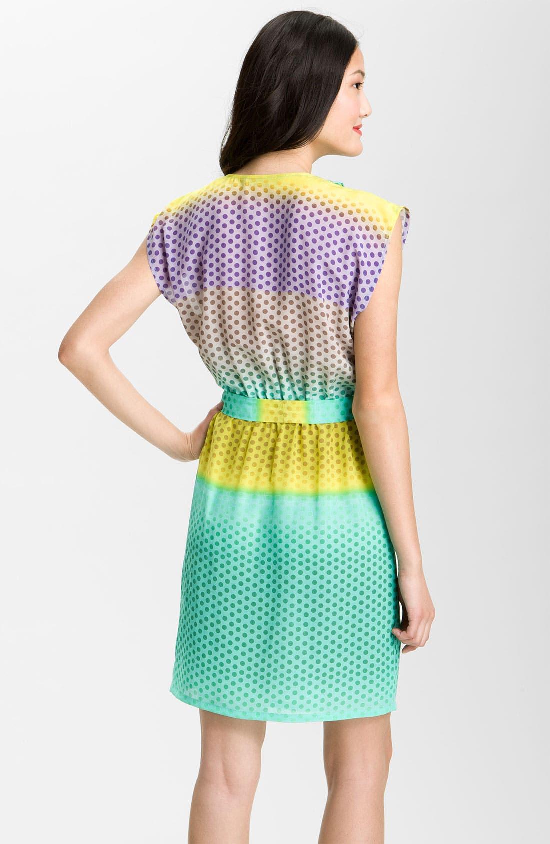 Alternate Image 2  - Presley Skye 'April' Surplice Dot Silk Dress