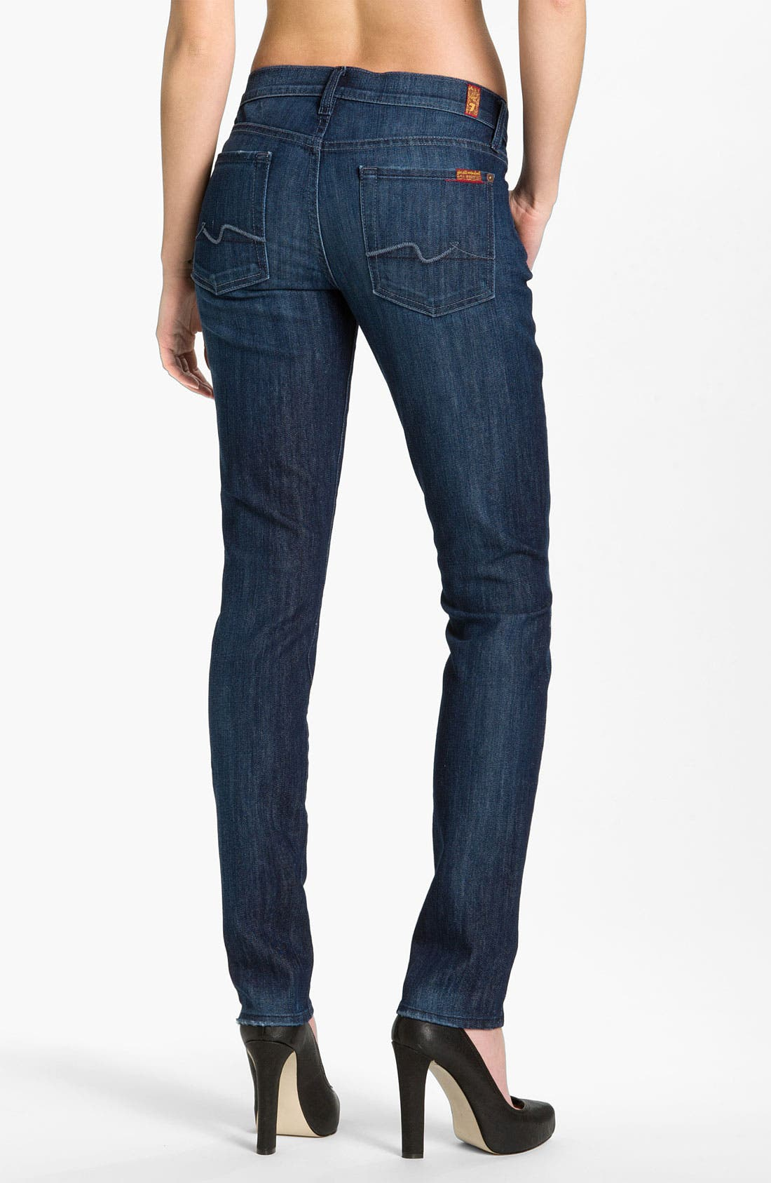 Alternate Image 2  - 7 For All Mankind® 'Roxanne' Skinny Jeans (Summer Dusk)