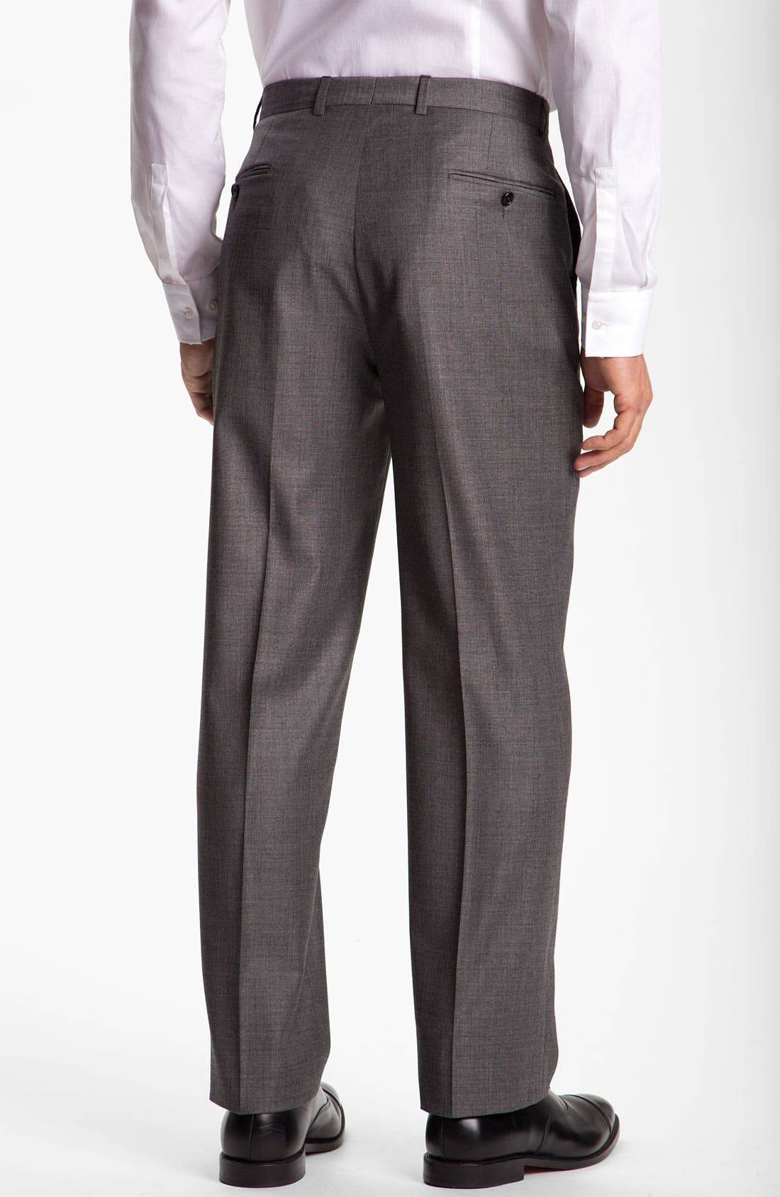 Alternate Image 5  - Hickey Freeman Solid Wool Suit