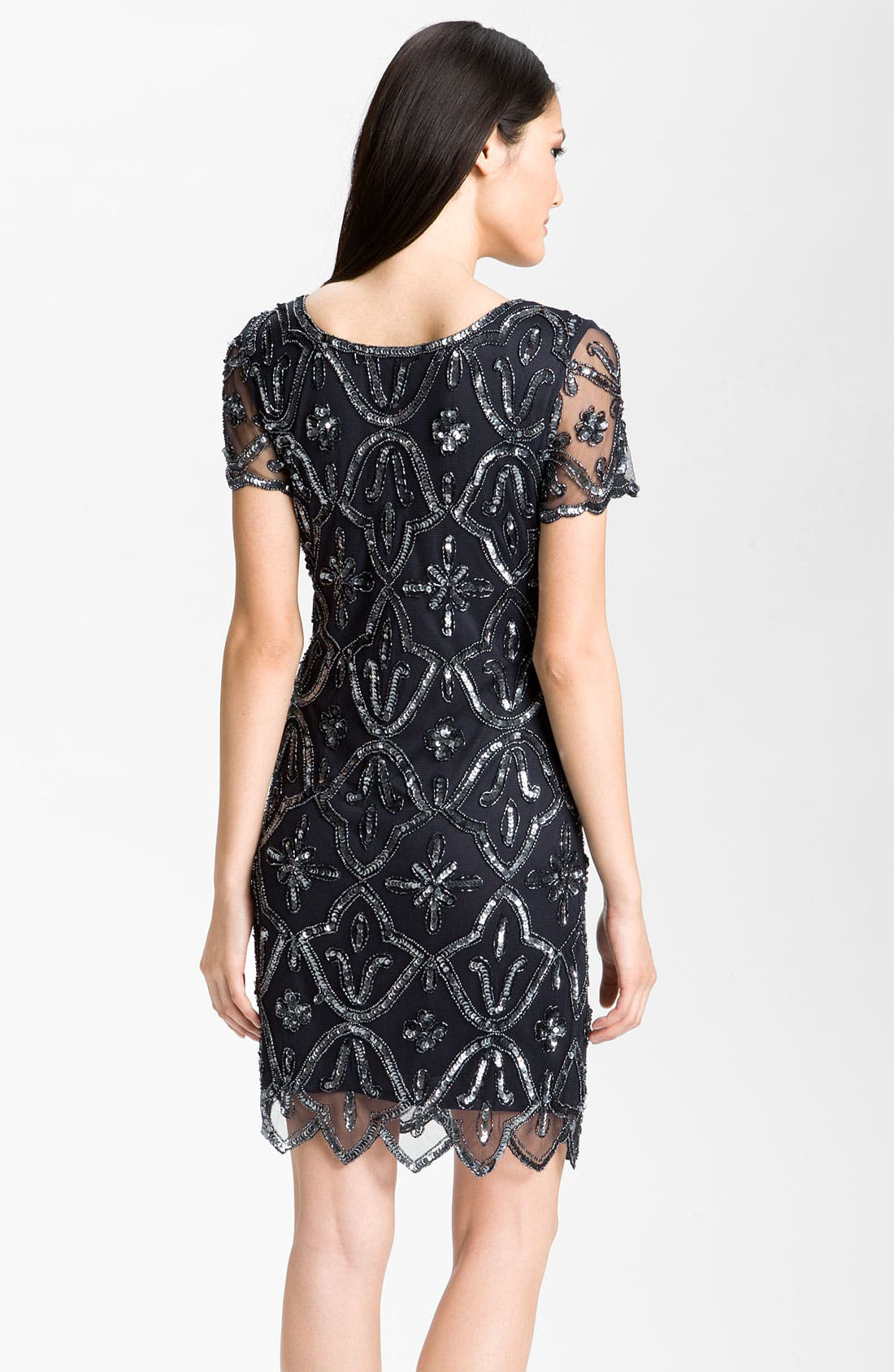 Alternate Image 2  - Pisarro Nights Square Neck Embellished Sheath Dress