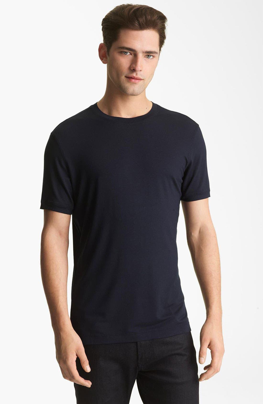 Alternate Image 1 Selected - Armani Collezioni Jersey Trim Fit T-Shirt