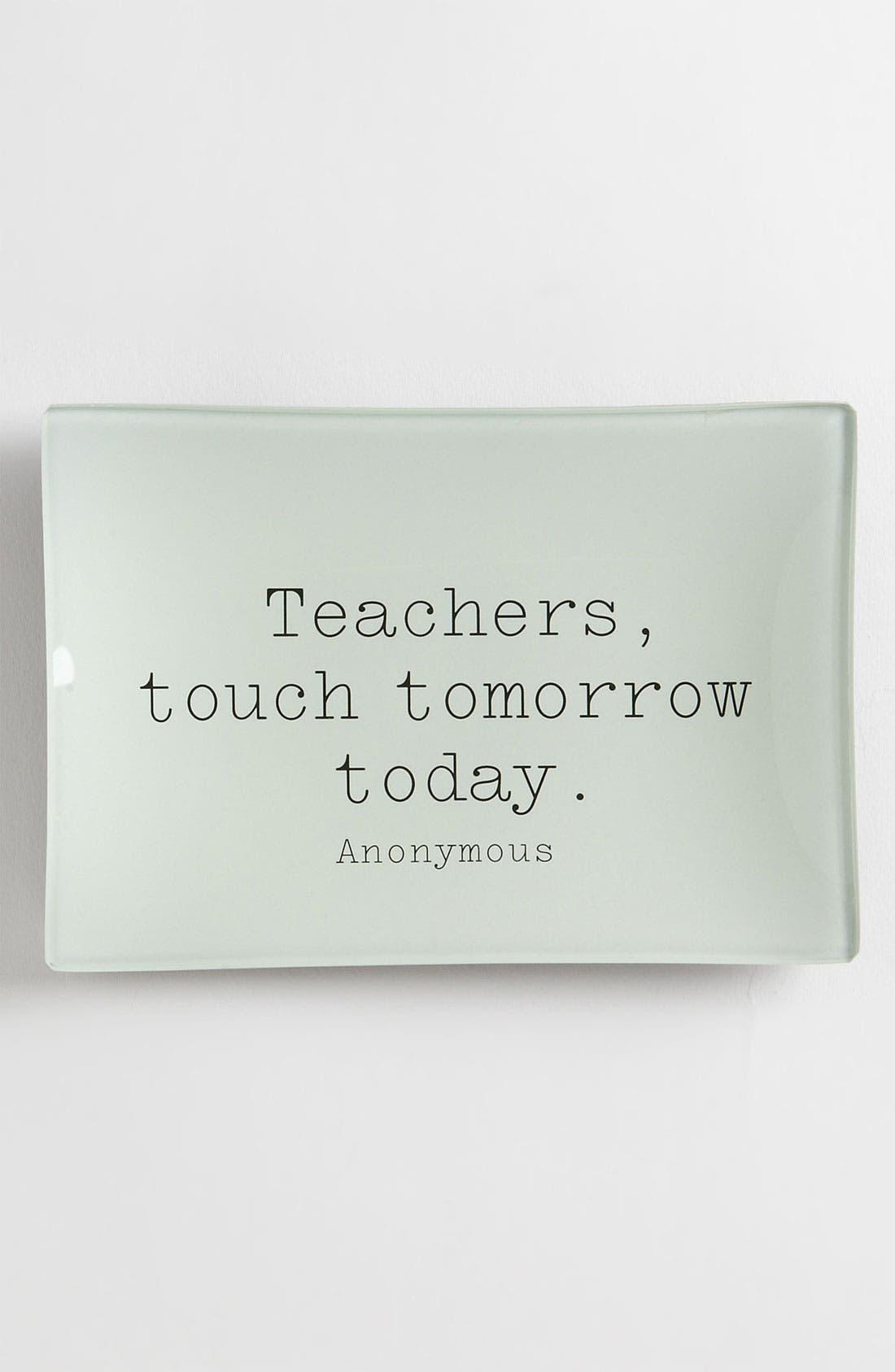 Alternate Image 1 Selected - Ben's Garden 'Teachers Touch Tomorrow' Trinket Tray, Large