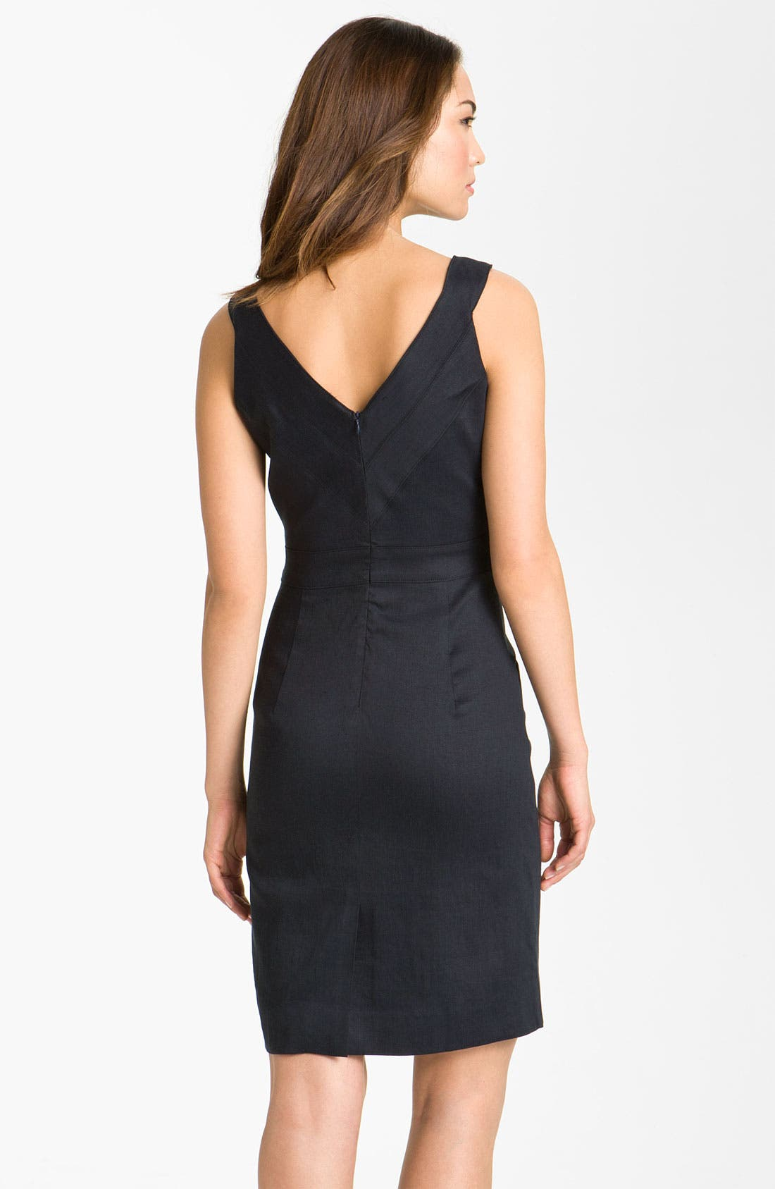 Alternate Image 2  - Milly Basketweave Sleeveless Sheath Dress
