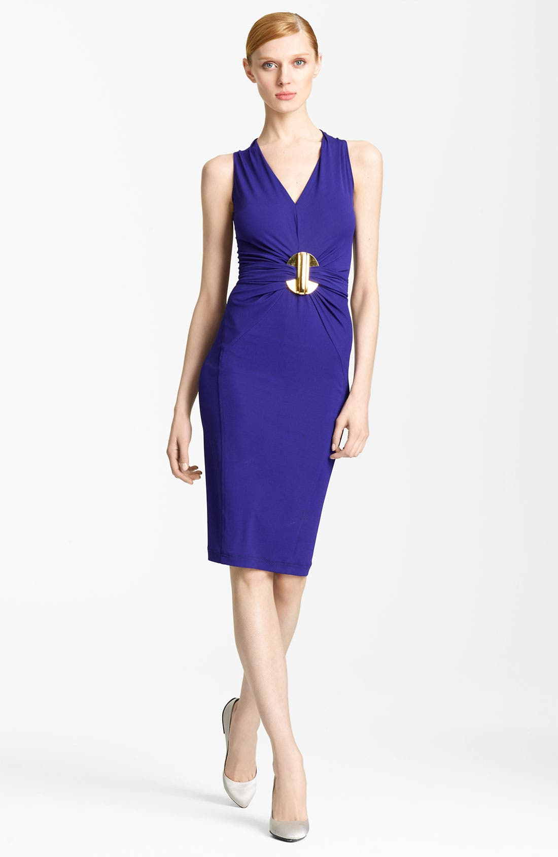 Main Image - Donna Karan Collection Hardware Detail Jersey Dress