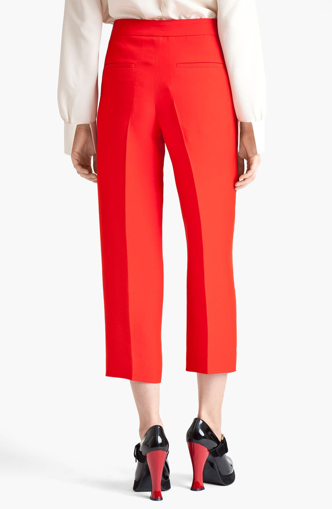 Alternate Image 2  - Marni Crop Straight Leg Organza Pants