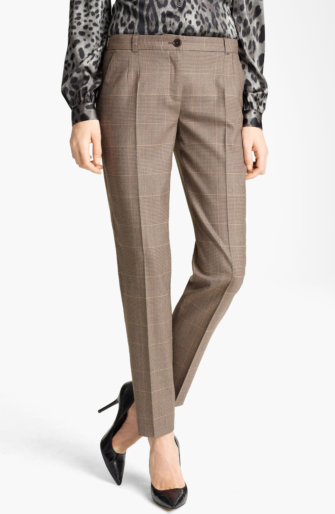 Alternate Image 1 Selected - Dolce&Gabbana Prince of Wales Skinny Crop Pants