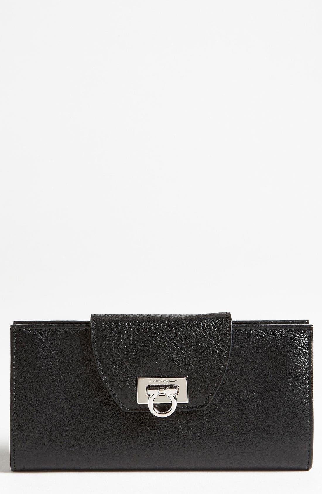 Main Image - Salvatore Ferragamo 'Vitello Safari' Continental Leather Wallet