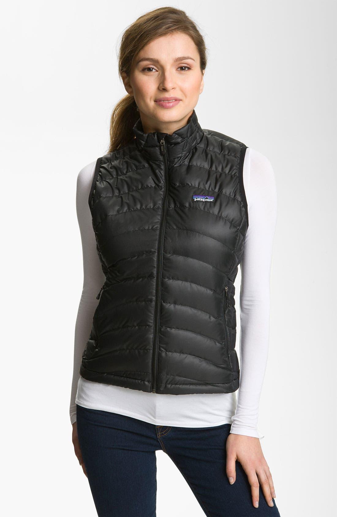 'Down Sweater' Vest,                         Main,                         color, Black