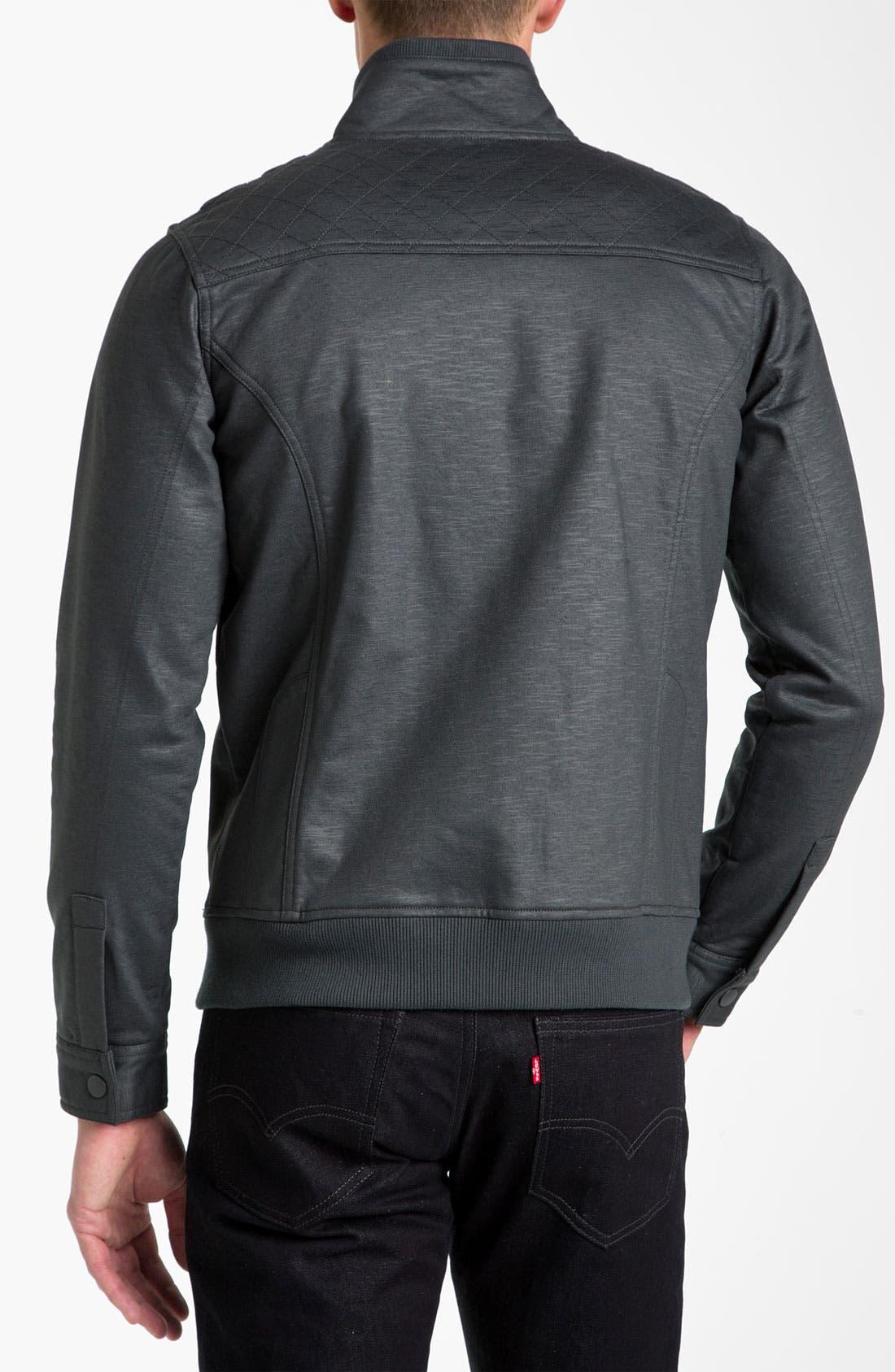 Alternate Image 2  - Kane & Unke Trim Fit Coated Moto Jacket