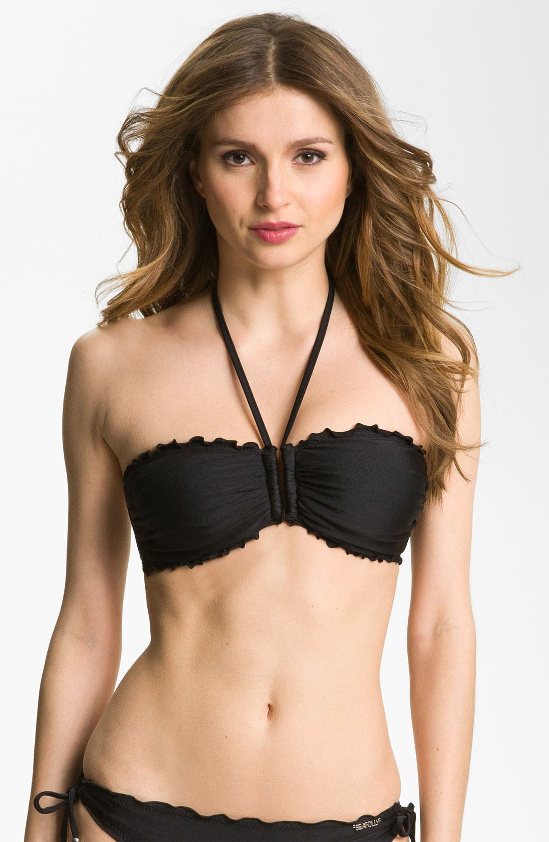 Main Image - Seafolly Ruffle Bandeau Bikini Top (DD-Cup)