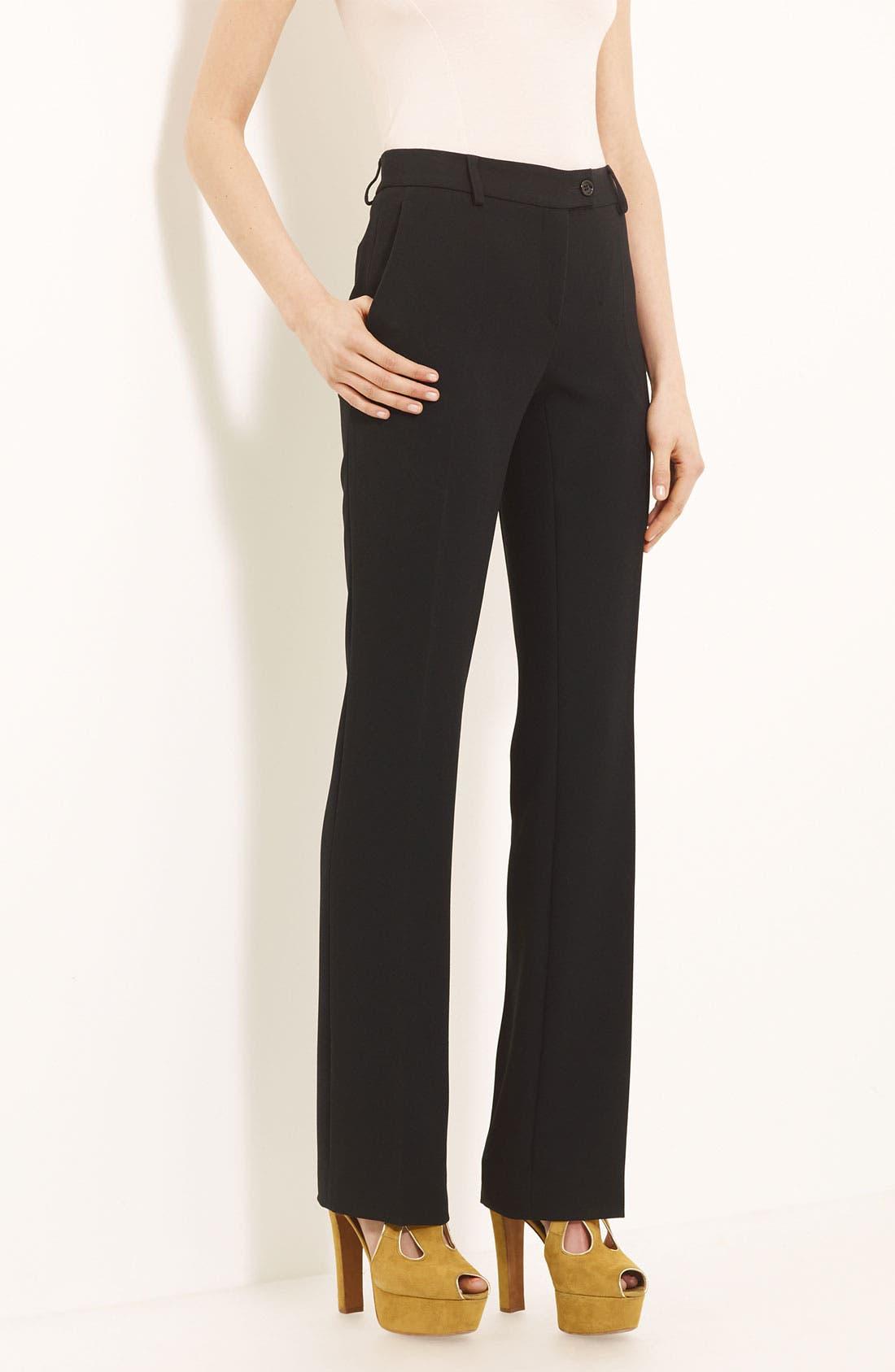 Main Image - Moschino Cheap & Chic Slim Crepe Trousers
