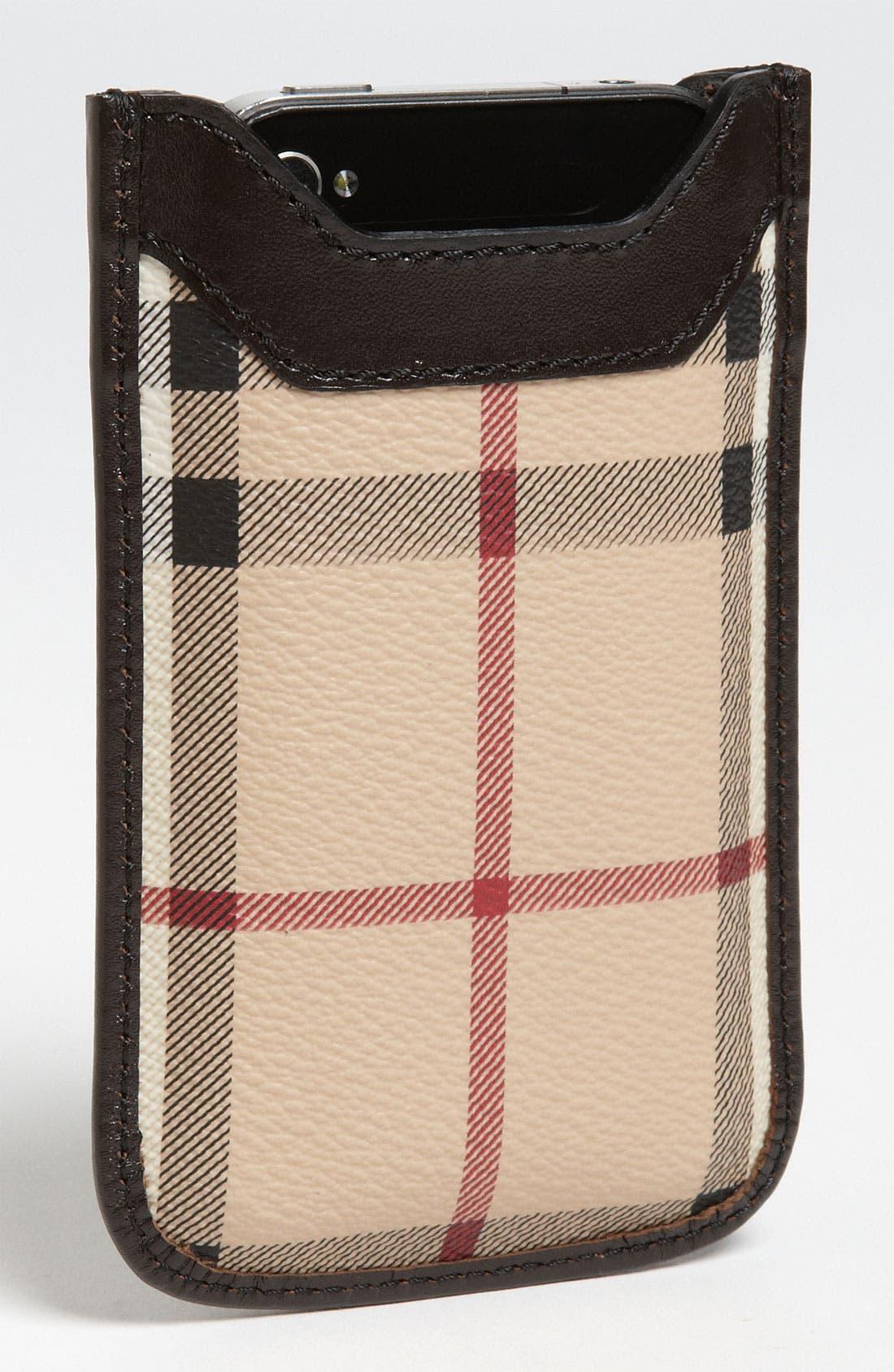 Alternate Image 2  - Burberry 'Haymarket Check' iPhone Sleeve