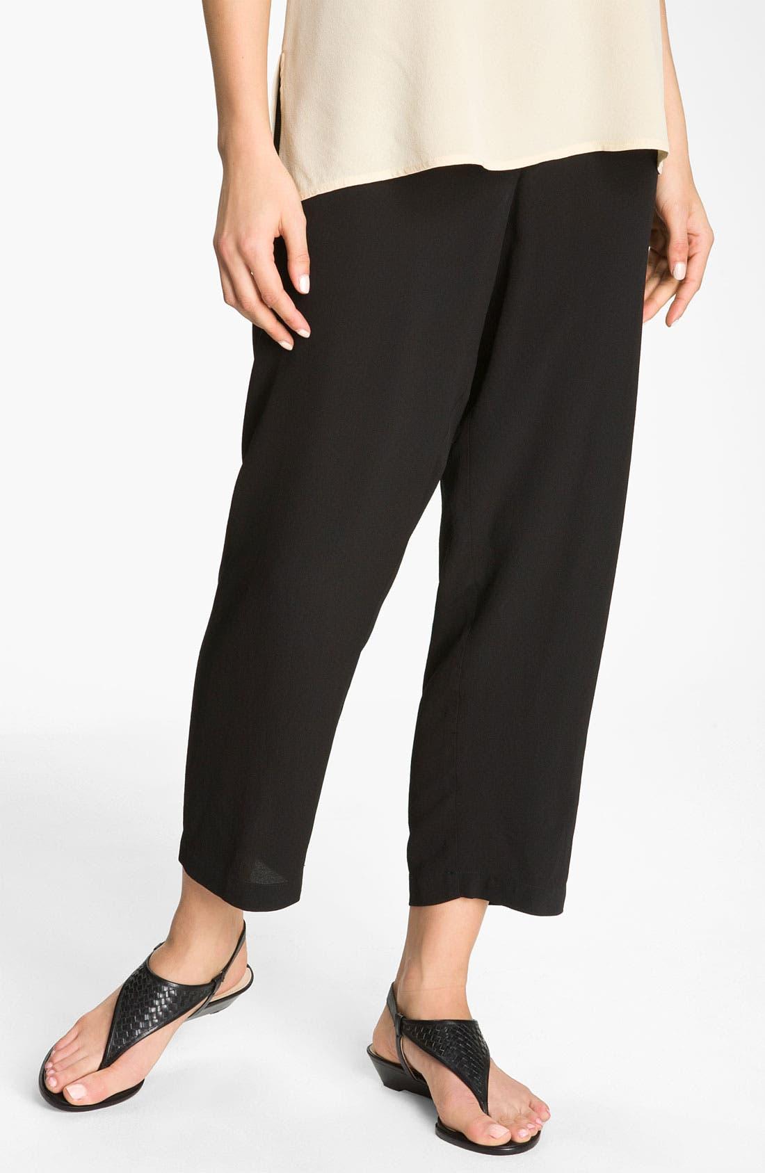 Alternate Image 1 Selected - Citron Silk Crop Pants