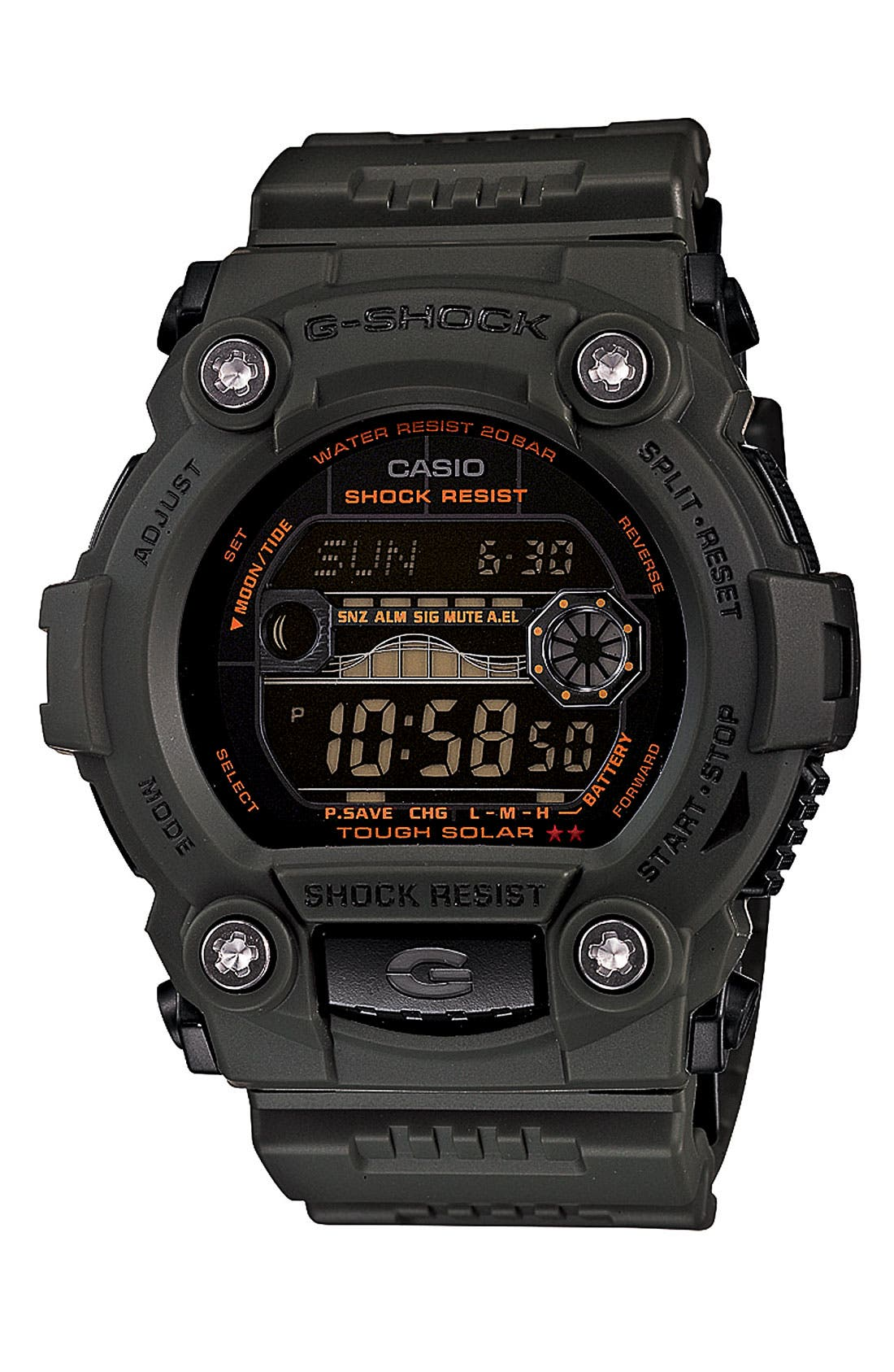 Main Image - G-Shock 'Solar' Watch, 52mm x 50mm